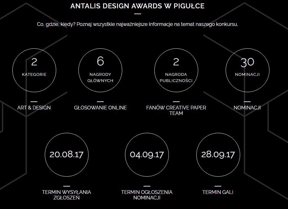 Rusza Konkurs Antalis Design Awards 2017.  Zaprojektuj notatkę dla notesu kreatywnego <br> lub tapetę  i wygraj jedną z 6 nagród głównych! konkurs