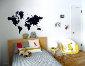 Fototapeta dla dzieci – mapa świata