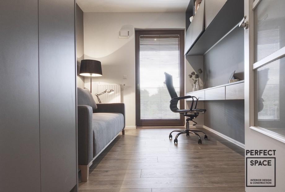 Aranżacja wnętrz: jak stworzyć w domu miejsce do pracy? aranzacja-wnetrza-domowego-biura-w-nowoczesnym-stylu