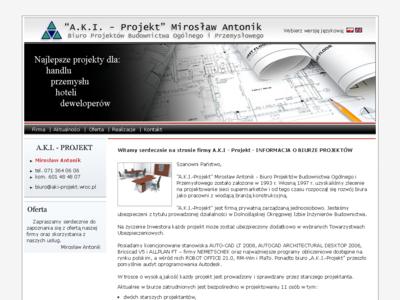 A.K.I.- Projekt Biuro Projektów Budownictwa Ogólnego i Przemysłowego Mirosław Antonik