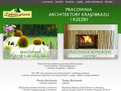 """""""Zielenią pisane"""" Pracownia Architektury Krajobrazu i Rzeźby"""